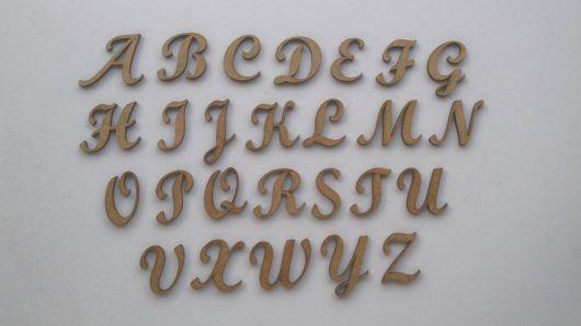 letras de mdf para escrever imendado.