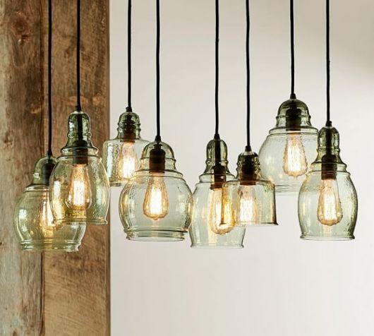 luminárias modernas diferentes