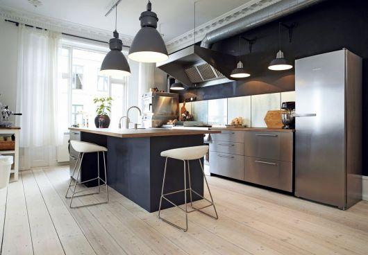 luminárias modernas pendente para cozinha