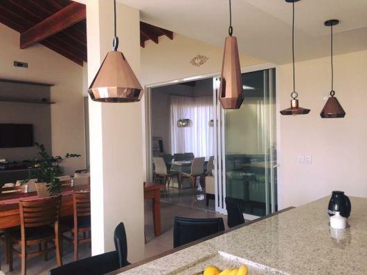 luminárias modernas pendente de cobre