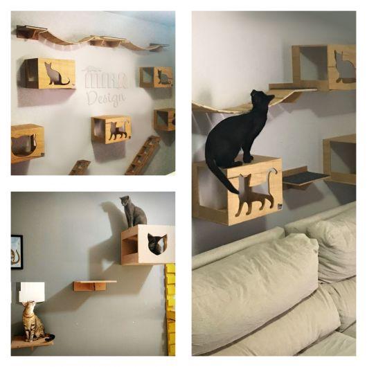 Os gatinhos vão amar ter um espaço para se movimentarem!