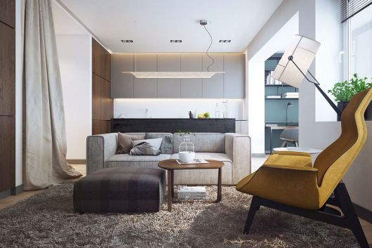 poltronas modernas em salas