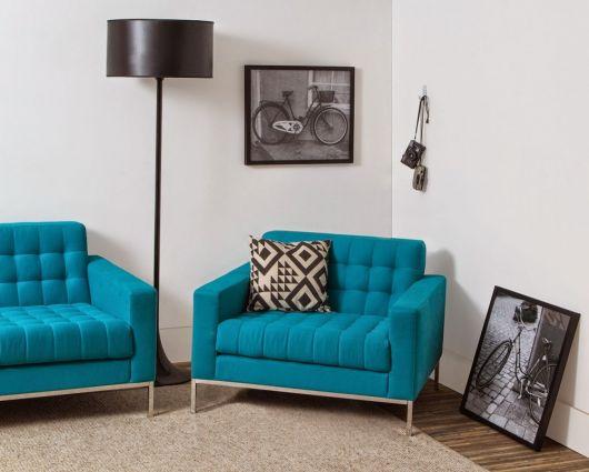 poltrona azul moderna