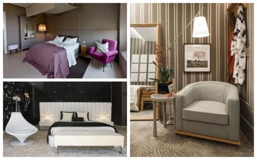Componha a decoração de seu quarto com uma poltrona moderna