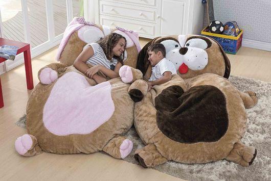 Puffs grandes para crianças em forma de bichos