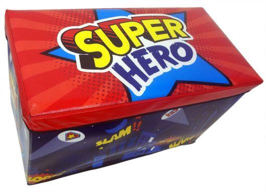 Dica de puff infantil baú com temática de heróis