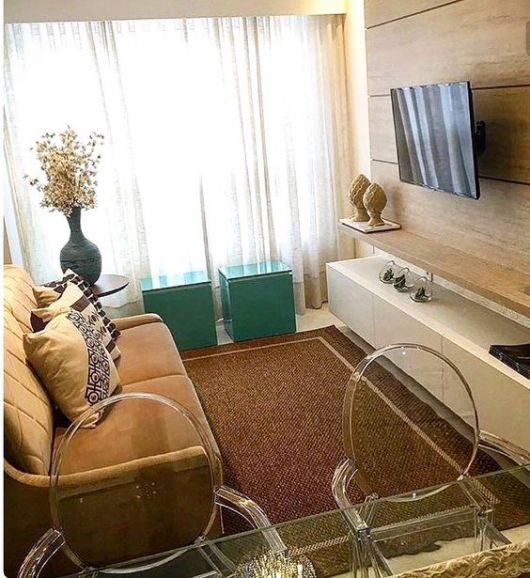 sala pequena com tapete