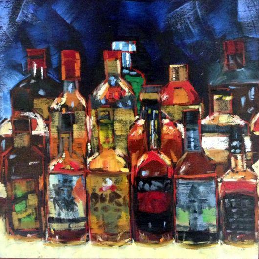 A arte com as bebidas
