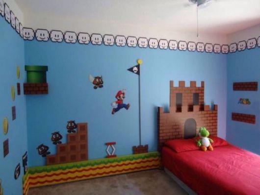 Procura algo mais simples e fácil de seguir? Que tal essa decor do Mario?