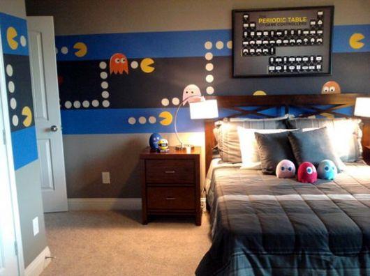 Pacman em destaque no papel de parede