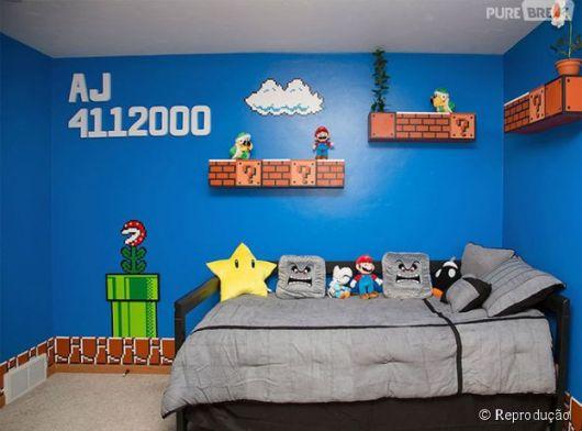 Super Mario não pode ficar de fora! Os amantes de games adoram!