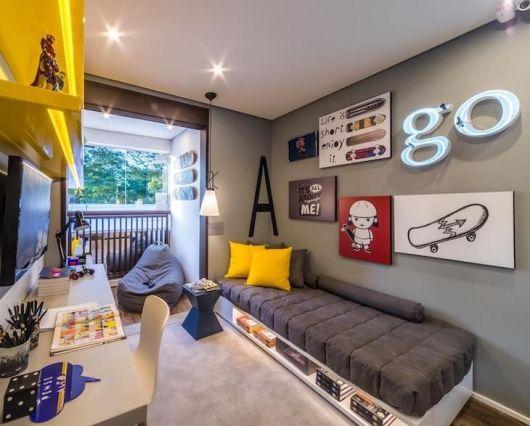 Até conceitos de tecnologia podem ser aproveitados na decoração do quarto geek