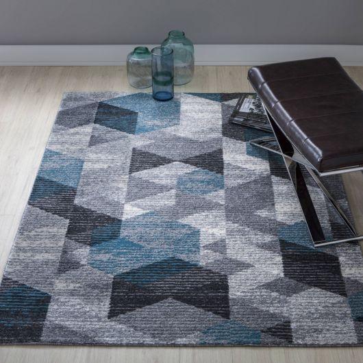 Um belo tapete como este pode sofisticar sua sala