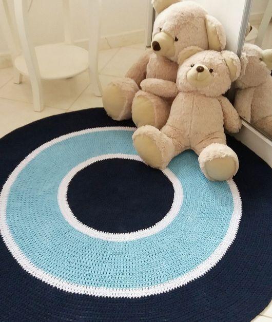 Os modelos redondos de crochê combinam muito com quartos infantis