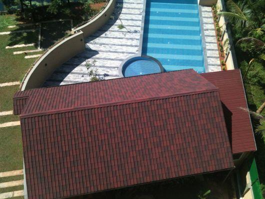 Telha ecológica em casa de veraneio