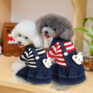 vestido para cachorro macaquinho jeans