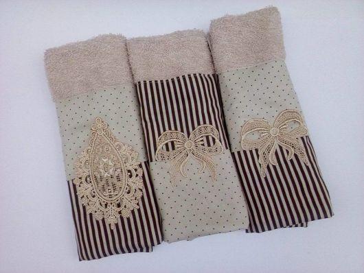 Kit de 3 toalhas de lavabo