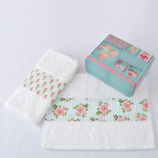 Kit de toalhas de lavabo bem charmoso para presentear