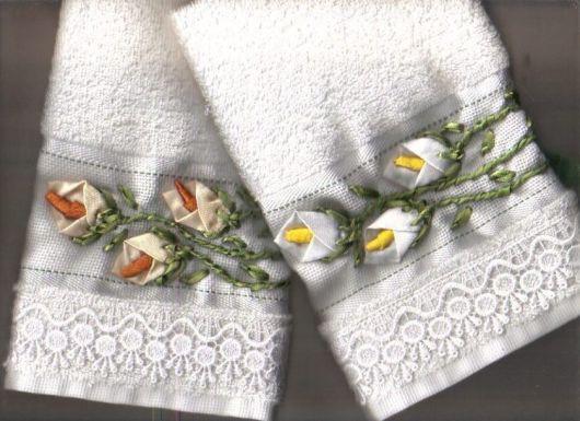 Dica de bordado diferente para toalhas