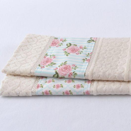 Kit de toalhas delicadas para lavabo
