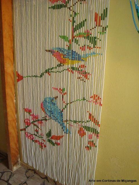 cortina de miçangas
