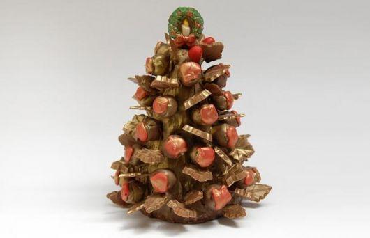 Árvore de Natal diferente feita com trufas