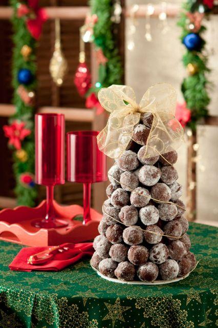 Dica de árvore de natal com trufas
