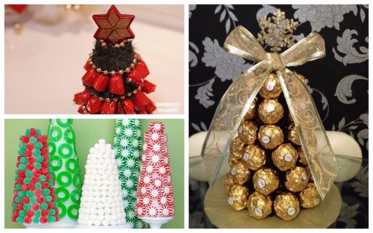 árvore de natal com doces e bombons