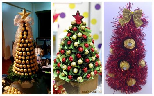 Veja opções de árvores de Ferrero Rocher