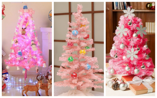 Hoje vamos falar sobre árvore natalina rosa