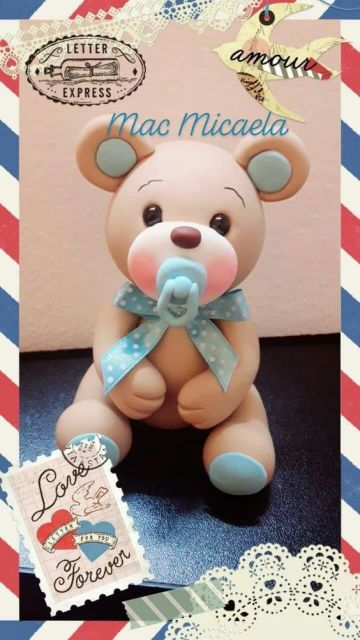 Bebê de biscuit para menino ursinho baby