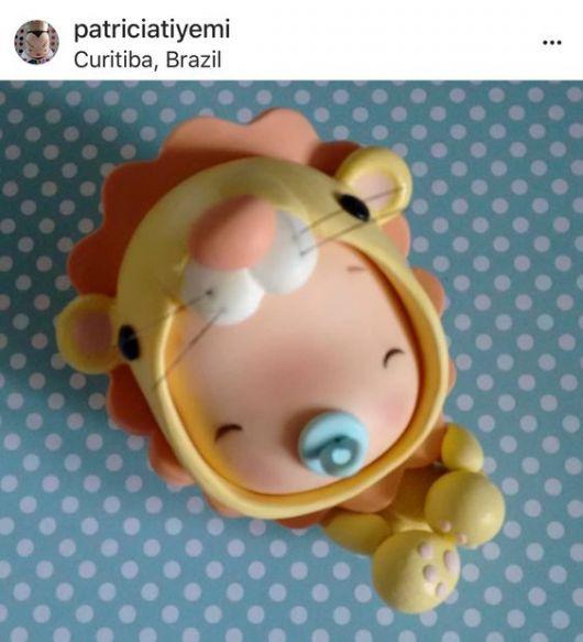 Bebê de biscuit para menino leãozinho