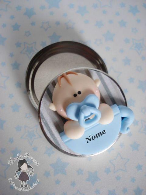 Bebê de biscuit para menino na latinha