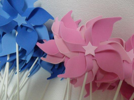 Opções de cataventos de EVA azuis e rosas