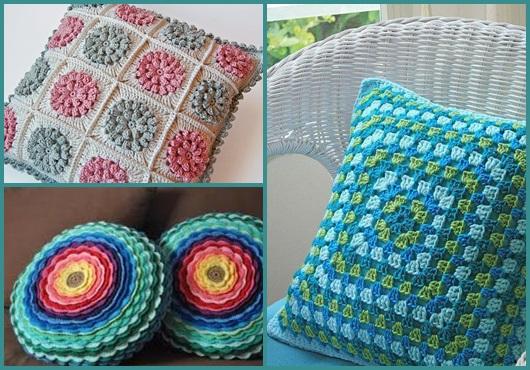 Como fazer almofadas: modelos de crochê