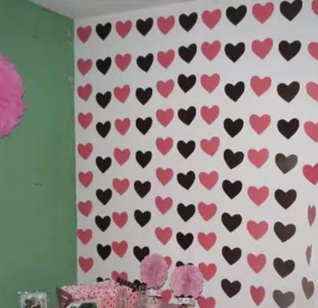 Como fazer coração de papel: cortina