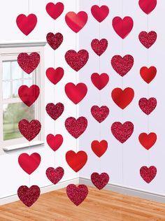Como fazer coração de papel: cortina vermelha