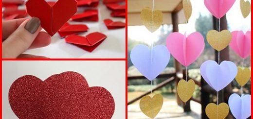 Coração de papel inspirações