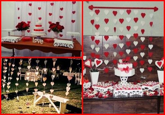 Coração de papel em decoração de casamento inspirações