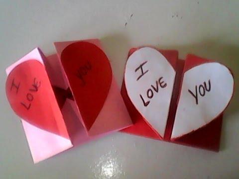 Como fazer coração de papel que abre e fecha