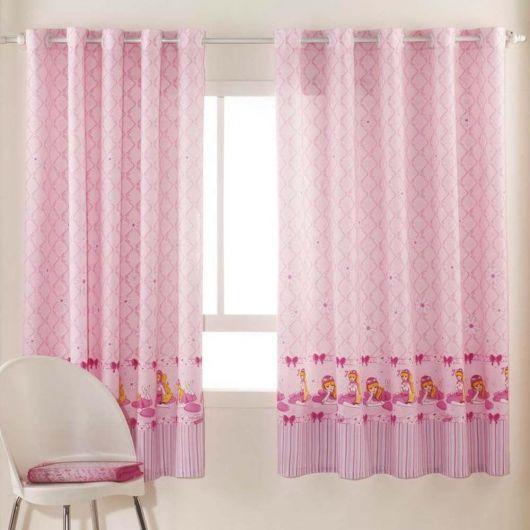 Como fazer cortinas: rosa claro para quarto