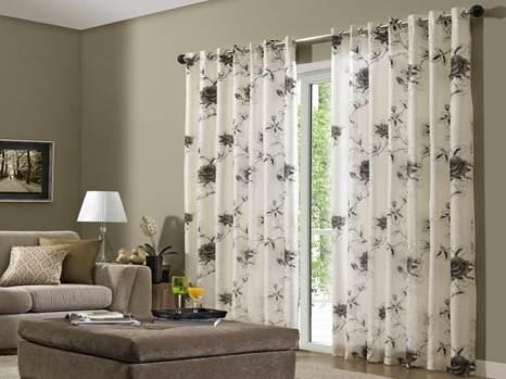 Como fazer cortinas: para sala estampada