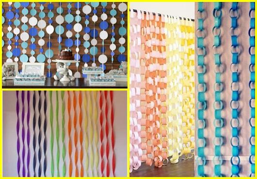 Como fazer cortinas: de papel