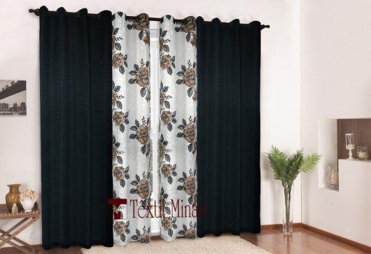Como fazer cortinas: para sala preta e branca