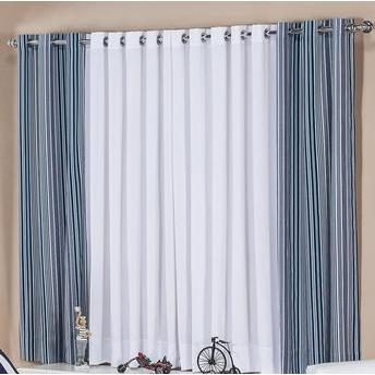 Como fazer cortinas: para sala azul e branca