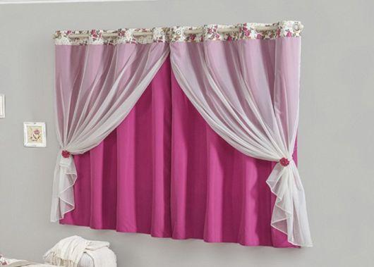 Como fazer cortinas: rosa para quarto