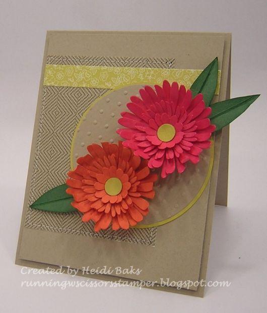 Como fazer flor de papel cartão vermelha