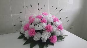 Como fazer flor de papel crepom branca