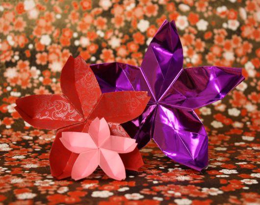 Como fazer flor de papel laminado