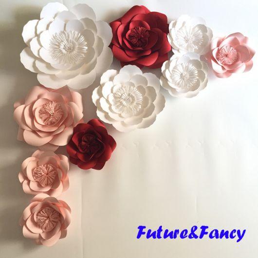 Como fazer flor de papel gigante branca